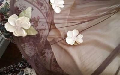 Need a custom prom dress? We love to add flowers