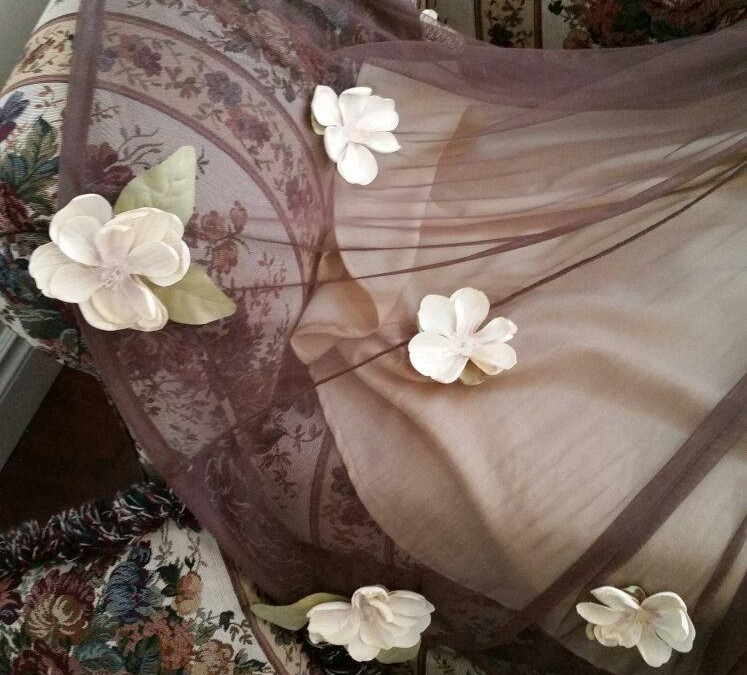 Need a custom prom dress? We love to add flowers